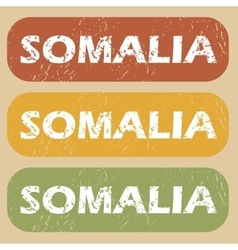 Vintage Somalia stamp set vector