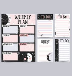 Weekly and daily planner vector