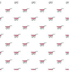 Wheelbarrow pattern seamless vector