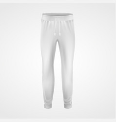 white jogging pants joggers sportswear realistic vector image