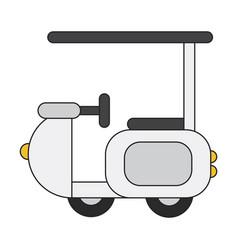 icon in flat design golf machine vector image