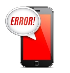 Mobile Phone Error Message vector image vector image