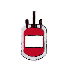 Plastic bag blood transfusion donation care vector
