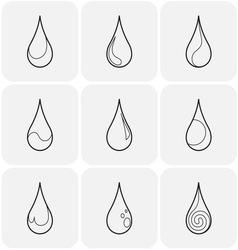 Set of symbols of a drop water vector