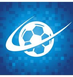 Swoosh soccer icon vector