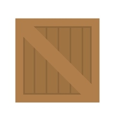 wooden box container vector image