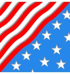 art American Flag for Independence vector image vector image