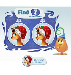 find 7 differences deer vector image vector image