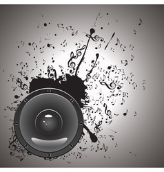 Music Poster with Audio Speaker2 vector image vector image