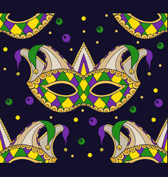 seamless festive pattern with masks vector image