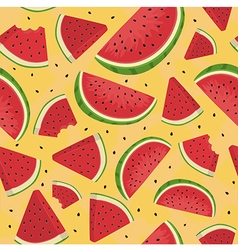 Seamless Pattern Watermelon Slice Orange vector image