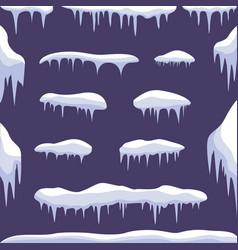 snow ice set vector image