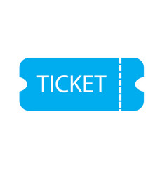 ticket icon on white background ticket sign vector image