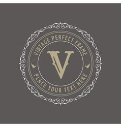 Vintage Frame - Monogram or Calligraphic Design vector image vector image