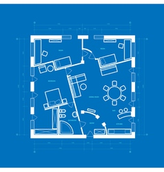 Blueprint of apartment vector