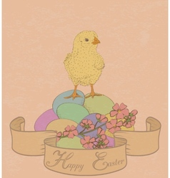 chicken and flowers vector image vector image