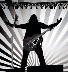 guitarist on stage vector image