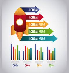 infographics statistics diagram vector image vector image