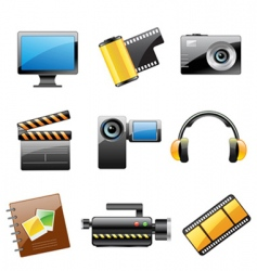 photo and video icon set vector image vector image