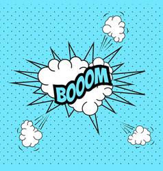 pop art comic speech bubble boom vector image vector image