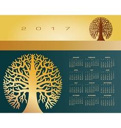 2017 Creative round tree calendar vector image