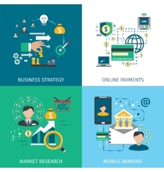 Banking Marketing Icons Set vector image vector image