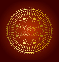beautiful gold ornament for diwali celebration or vector image vector image