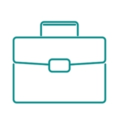 Briefcase suitcase thin icon luggage business bag vector image vector image