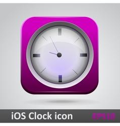 Clock glossy icon vector image vector image
