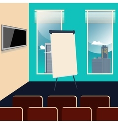 Conference Room Interior with Chairs TV set vector image