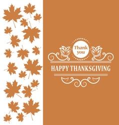 Happy thanksgiving vintage calligraphic elements vector