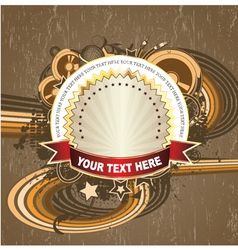 label with music background vector image