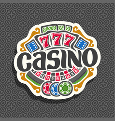 logo for casino vector image vector image