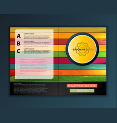 modern abstract brochure color wood report or vector image