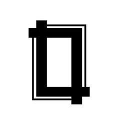 portrait crop symbol vector image