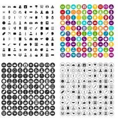 100 psychoanalyse icons set variant vector
