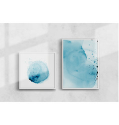 abstract creative blue watercolor hand-painted vector image