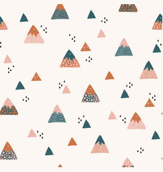 Abstract mountains seamless pattern cute vector