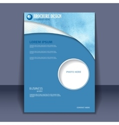 Abstract watercolor style brochure design vector