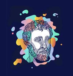 agora dream classical sculpture design printing vector image