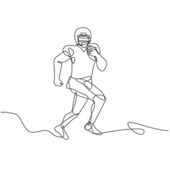 American football running back wide receiver vector