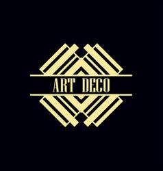 art deco label vector image