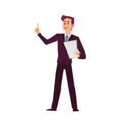 attorney or lawyer man in court flat cartoon vector image
