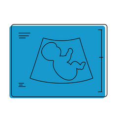 baby ultrasound isolated icon vector image