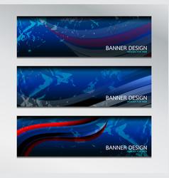 banner design wave vector image