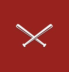 Baseball stick template design vector