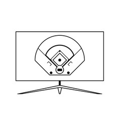 baseball tv translation icon vector image