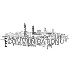 Be an effective communicator text word cloud vector