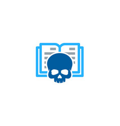 bone book logo icon design vector image