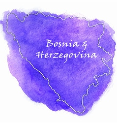 Bosnia Herzegovina map vector image